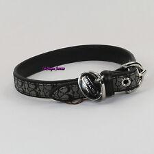 NWT Coach Mini Signature Fabric Leather Dog Pet Animal Collar FS4003 S Black