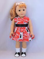 """Coke a cola dress fit 18"""" and American Girl dolls"""