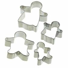 Gingerbread Family Cookie Cutter Biscuit Pastry Sandwich Toast-KitchenCraft 4pcs