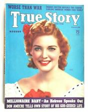 VINTAGE TRUE STORY MAGAZINE AUGUST 1939 GENEVA FIELDS ON COVER
