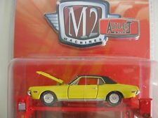 `68 Mercury Cougar  Yellow/Black 1968 + Hebebühne *** M2 Machines 1:64 Lose /NEU