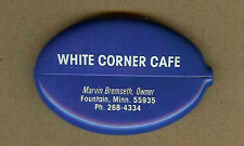 White Corner Cafe,Marvin Bremseth-Owner,Fountain,Minnesota MN Squeeze Coin Purse
