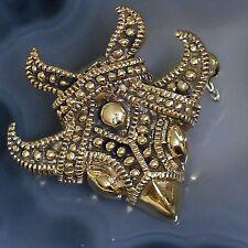 kleine Wikinger Greifvogel Fibel Brosche f. Tunika Bronze Viking Gewandspange