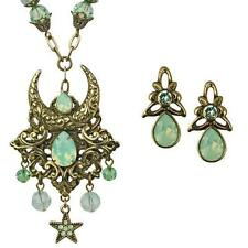 NEW KIRKS FOLLY MYSTIC GODDESS TEARDROP NECKLACE and EARRINGS SET  BT/CHRYSOLITE