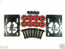 "Lucky Black 1/8"" Riser Pad + ABEC 7 Bearings + Spacers + 1.25'' Hardware"