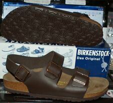 BIRKENSTOCKS MILANO BROWN LEATHER SIZE 42 NEW IN BOX SANDALS NICE