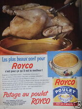 PUBLICITÉ 1956 ROYCO POTAGE AU POULET AU VERMICELLE  - ADVERTISING