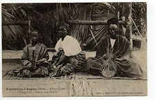 EXPOSITIONS ANGERS CPA 49 exposition 1906 Village noir un VANNIER et sa famille