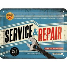 Service And Repair Garage Metal Embossed Sign Pub Bar Walls Decor Plaque