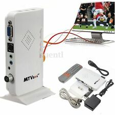 HD 1080P LCD VGA External TV PC BOX Digital Program Tuner Receiver HDTV+Speaker