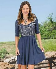 ROPER  Western DRESS Gypsy Floral  Sequin Country COWGIRL NWT MEDIUM