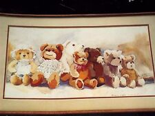 VINTAGE DIMENSIONS NO CROSS STITCH TEDDY BEAR PARADE