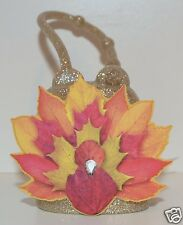 BATH & BODY WORKS GOLD TURKEY LEAVES POCKETBAC HOLDER SLEEVE HAND SANITIZER CASE