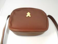 VINTAGE AUTHENTIC Lancel Brown Pebble Leather Shoulder Bag Brass Fitting Fine