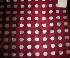100%silk vintage,winered with 2cmwhite dits heavy diagonal 90cm with brokat