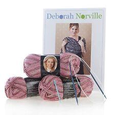 Deborah Norville Shawl Knitting Kit Multi Pink Yarn 3 Skeins Pattern Needles