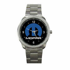 Mopar Logo Chrysler Dodge Jeep Sport Metal Watch