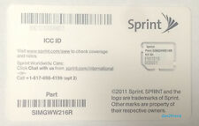 New Clean Sprint Micro ICCID SIM Card SIMGWW216R For Apple iPhone 4S