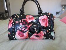 Nicole Lee Floral Rose Printed Studded Shoulder Doctor Handbag Purse