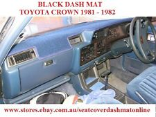 DASH MAT, BLACK DASHMAT, TOYOTA CROWN 1981 - 1982, BLACK