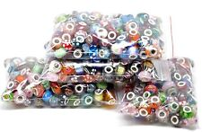 25 x Mixed Colour Bulk LAMPWORK GLASS BEADS For Silver European Charm Bracelets