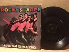 "ROCKY SHARPE & THE REPLAYS 7"" LOVE WILL MAKE YOU FAIL IN SCHOOL CHISWICK CHIS114"