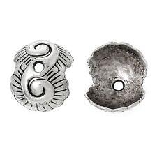 10x tapas de perlas perlkappen remates concha para 12mm perlas metal plata Antik