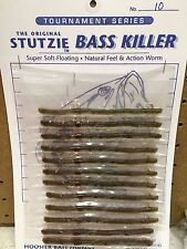 "Stutzie Rubber Fishing Worms ""Bass Killer""      (12 Per Package)"