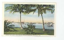 early Palm Beach FL Lake Worth from Royal Poinciana Hotel unsed postcard