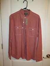 J. Crew Cotton Selvedge Japanese Chambray Utility Button Down Large Slim Shirt