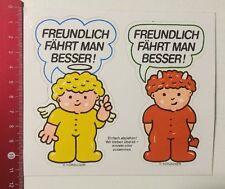 Aufkleber/Sticker: Freundlich Fährt Man Besser-Hörzu- Engel Teufel (170316197)