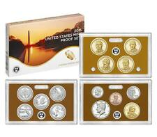2015 Proof Set 14 Coins Including Presidential, State Park Qtrs Deep Cam