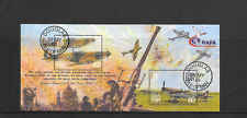 ISLE of MAN 2000 Mann at War Mini-sheet used