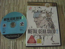 METAL GEAR SOLID 2 SONS OF LIBERTY BEST EDITION PLAYSTATION 2 PS 2 JAPONES USADO