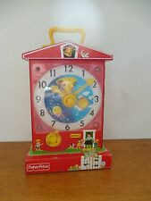 👿 Horloge Musicale Réédition Music Box Fisher Price Teachinq Clock