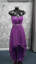 Tiffanys Purple Evening /Prom Dress  Short Front Long Back size 6