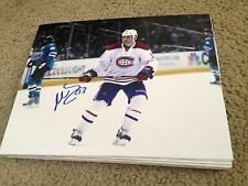 Mike Brown Autographed 8x10 Photo Montreal Canadians Leafs Sharks Oilers