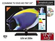 Télévision TV + DVD TNT LED 19' 48cm 12V /220V camping car caravane
