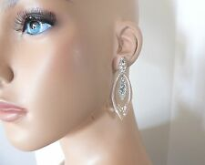 Alexis Bittar Lucite Crystal Deco Marquis Orbiting Post Earrings - Clear $298