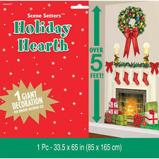 """65"""" Holiday Hearth Fireplace Christmas Party Decoration Scene Setter Add-on Prop"""