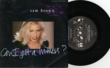 "SAM BROWN - CAN I GET A WITNESS - RARE 7"" 45 PROMO VINYL RECORD w PICT SLV 1988"