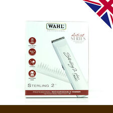 Wahl Professional Sterling 2 Plus Hair Trimmer, White Version with UK 3 Pin Plug