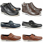 MENS CASUAL SLIP ON ANKLE BOOTS GENTS MOCCASINS DECK BOAT LOAFERS SHOES SIZE6-12