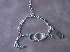 50 Shades of Grey Inspired Charm Bracelet Mask Handcuffs Tie Key Squirrelmade