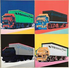 ☆  Andy Warhol ☆ Trucks☆ Original Announcement Cards☆ 1986 ☆ Geschenk ☆