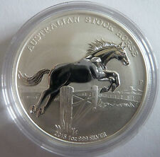2015 Australian Stock Horse 1 oz Troy Ounce .999 Silver Bullion Coin