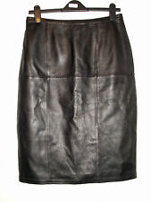 NEXT real leather pencil skirt black size 12