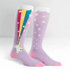 """STRETCH-IT"" size! Unicorn and Rainbow on Unisex Wide Calf Knee High Socks"