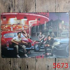 Vintage Tin Sign Night Street music Bar Pub Home Retro Wall Plaque Metal Poster