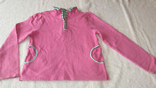 *VGC* John Lewis 10 years PINK TOP Polo Rugby Jumper Autumn Winter Girls 9-10yrs